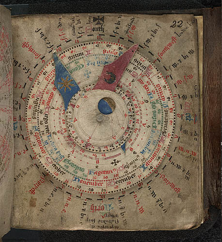 "Volvelle from ""Medical miscellany, including an astronomical calendar"" (approx 1490).The British Library."