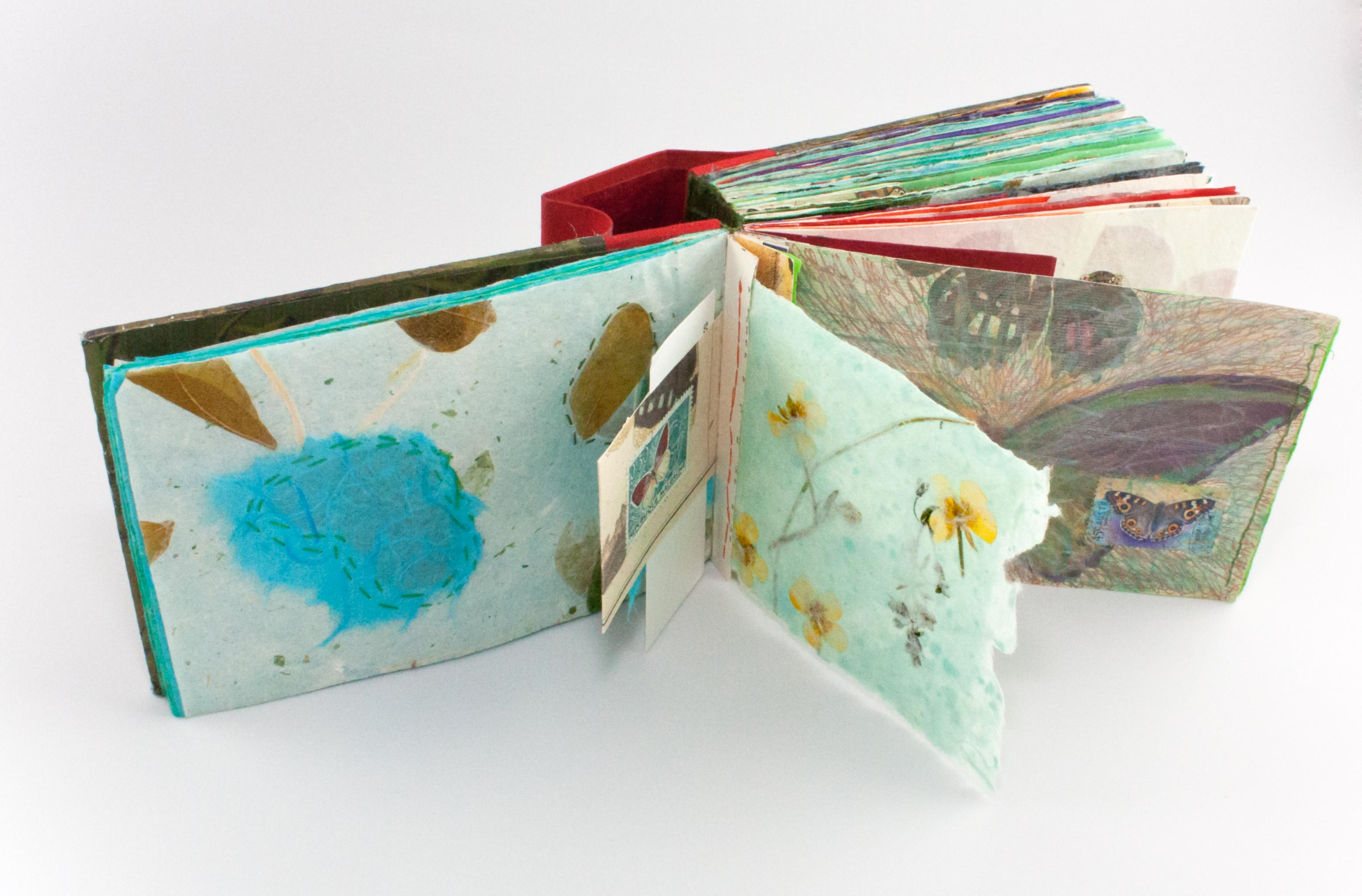 journal pages with handmade paper