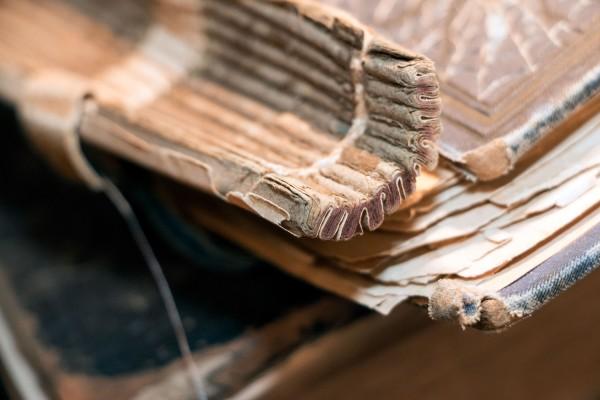 Victorian scrapbook spine